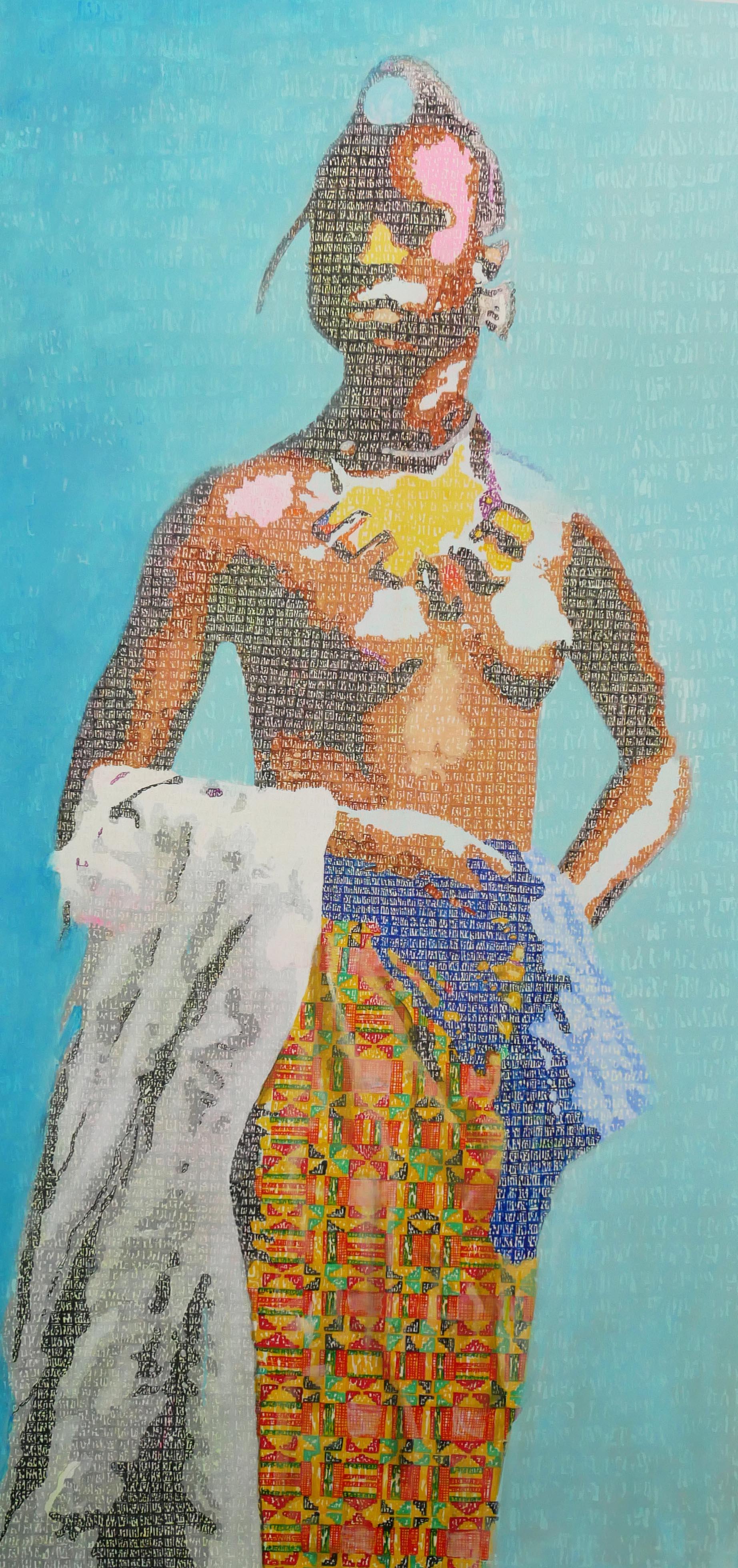 Jeune Foulah - 2018 - 199x99 cm - Acrylique sur toile