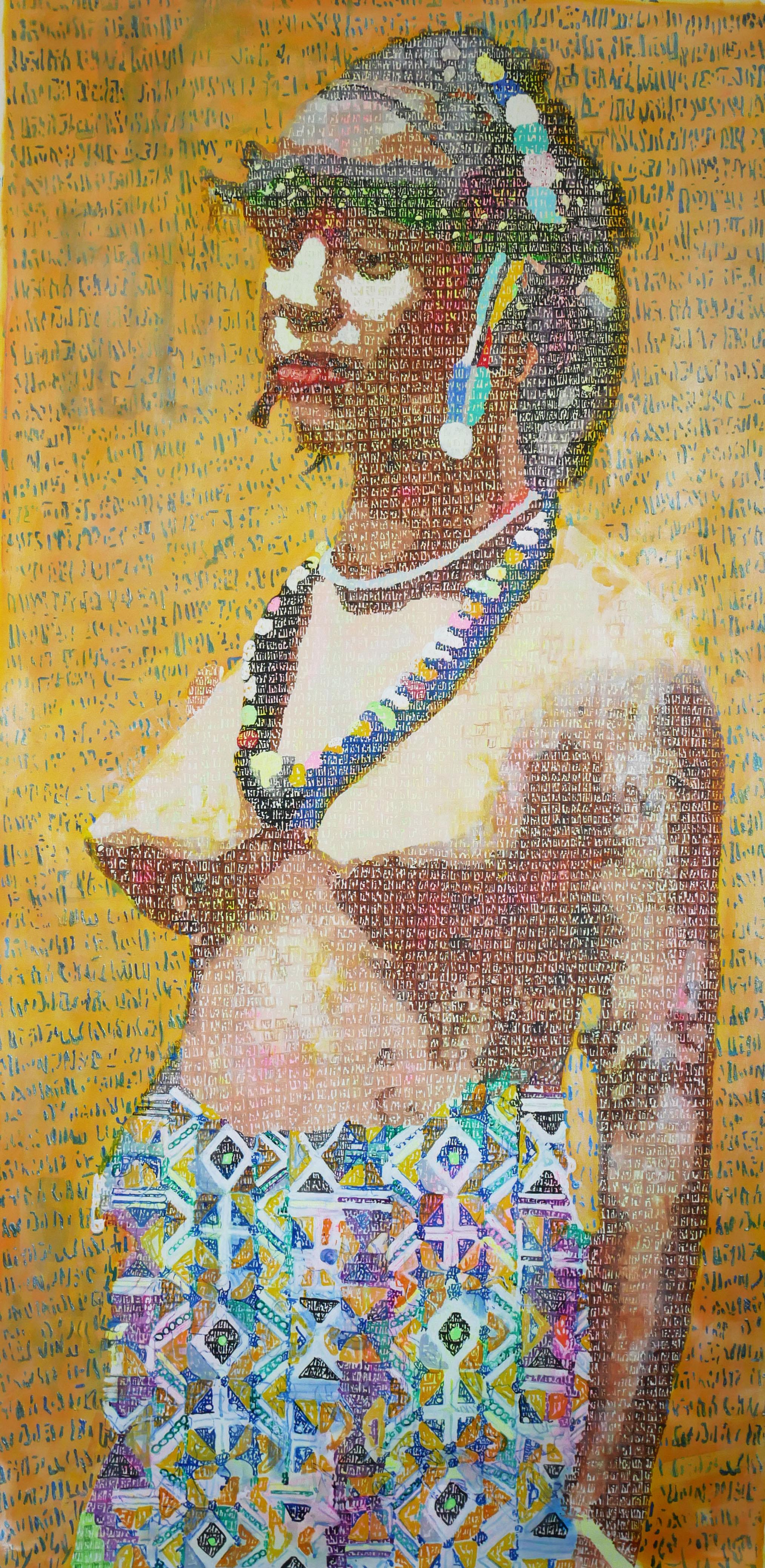 Jeune Foulah 2 - 2018 - 200x100 cm - Acrylique sur toile